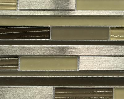 <strong>Mosaico de vidrio tonos plata y verde</strong> <h6>código LAG155</h6>