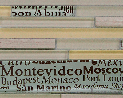 <strong>Mosaico de vidrio diseño Ciudades del Mundo</strong> <h6>código LAS331</h6>