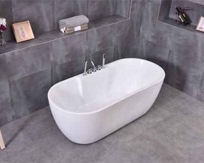 Deja que las líneas de esta bañera te conquisten, modelo autoportante Agra código BA5009
